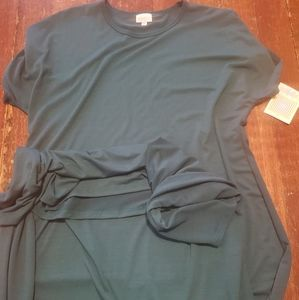 NWT lularoe solid  green Maria dress